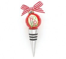 Santa Says Ho Ho Wine Stopper Ornament
